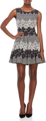 Eliza J Petite Lace Pattern Fit & Flare Dress