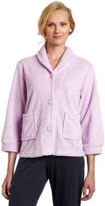 Casual Moments Womens Bed Jacket with Shawl Collar