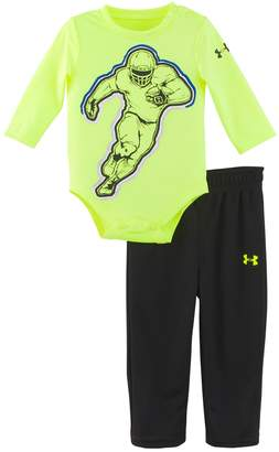 Under Armour Baby Boy Football Bodysuit & Logo Pants Set