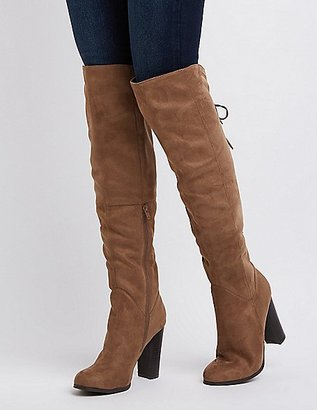 Lace-Up Back Over-The-Knee Boots $48.99 thestylecure.com