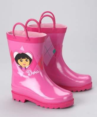 Nickelodeon Dora the Explorer Girl's Rain Boots - Size 11-12 Little Kid