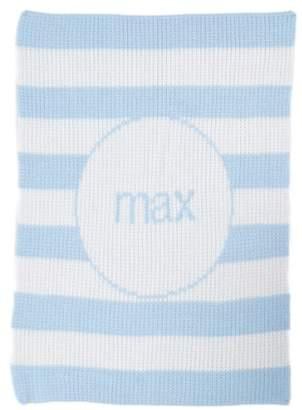 Butterscotch Blankees 'Modern Stripe' Personalized Stroller Blanket