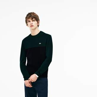 Lacoste Men's Crew Neck Ribbed Wool Sweater