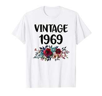 Vintage 1969 50th Birthday Boho Floral Gifts For Women T-Shirt