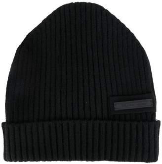 Prada ribbed beanie hat