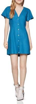 BCBGeneration Flutter-Sleeve Mini Shirt Dress