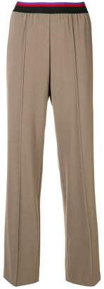 Etro ribbed waistband trousers