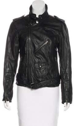 S.W.O.R.D. Asymmetrical Leather Jacket