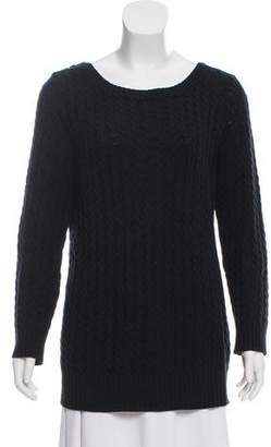 Burberry Cable Knit Scoop Neck Sweater