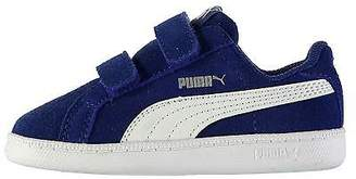 Puma Kids Smash Suede Fun Trainers Shoes Casual Touch and Close Infant Boys