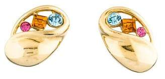 Givenchy Multicolor Crystal Clip-On Earrings
