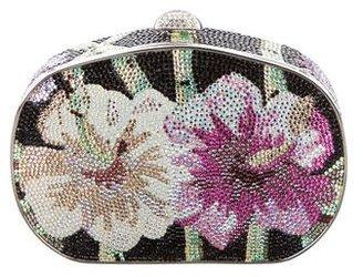 Judith Leiber Crystal-Embellished Floral Minaudière $595 thestylecure.com