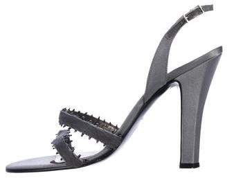 Gianni Versace Ponyhair Slingback Sandals