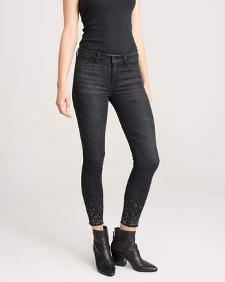 Abercrombie & Fitch Low Rise Shine Ankle Jeans