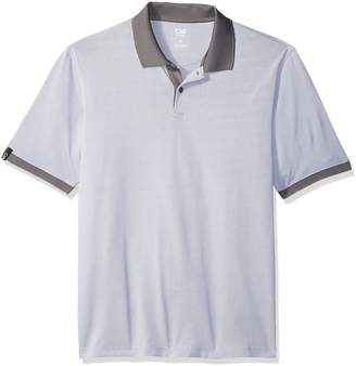 Haggar Men's C18 Birdseye Polo Shirt, Grey, XXL