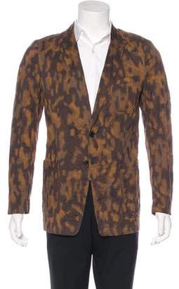 Dries Van Noten Camouflage Print Blazer