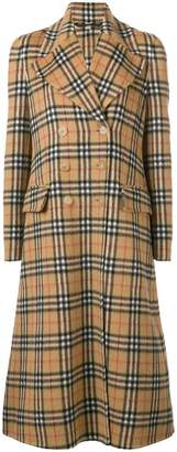 Burberry classic check print coat