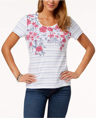 Karen Scott Printed Embellished T-Shirt, Created for Macy's