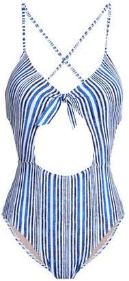 Tart Collections Cutout Striped Swimsuit