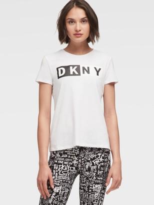 DKNY Two-tone Logo Tee