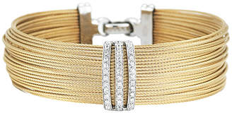 Alor Classique 18K & Stainless Steel 0.35 Ct. Tw. Diamond Cable Bracelet