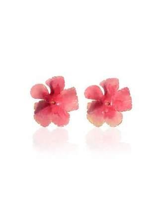 Jennifer Behr Wild Rose Hand-Painted Stud Earrings