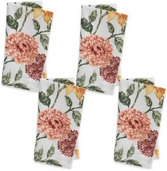 Celebrate Fall Together Sunflower Mum Print Napkin 4-pack