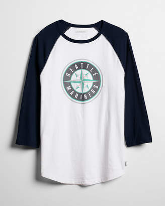 Express Seattle Mariners Raglan Baseball Tee