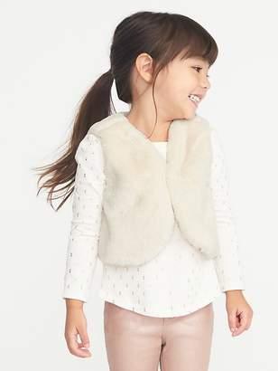 Old Navy Faux-Fur Vest for Toddler Girls