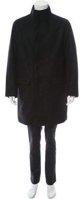 Vince Wool Button-Up Coat