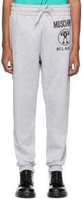 Moschino Grey Double Question Mark Lounge Pants