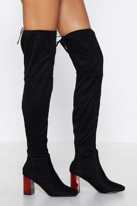 Nasty Gal Tort New Shoes Thigh-High Boot