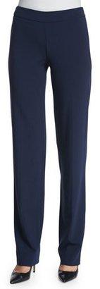 Armani Collezioni Slim-Fit Side-Zip Pants, Astral Blue $595 thestylecure.com