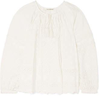 Ulla Johnson Cara Broderie Anglaise Cotton Top - White
