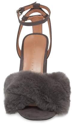 Topshop Sassy Faux Fur Sandal (Women)
