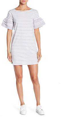Romeo & Juliet Couture Striped Polka Dot Tier Sleeve Dress