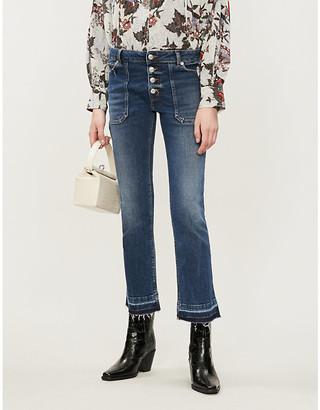 Zadig & Voltaire Zadig&Voltaire Londa Brut kick-flare mid-rise jeans