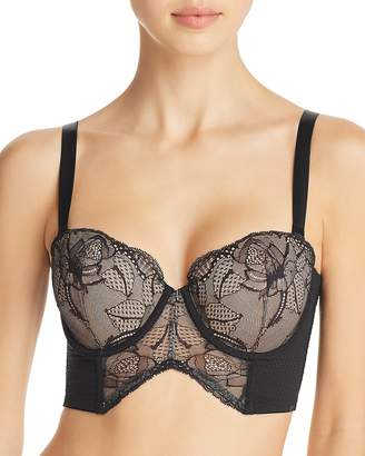 Calvin Klein Black Rose Lace Strapless Convertible Bustier