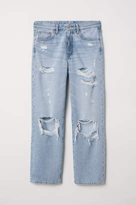 H&M Original Straight High Jeans - Blue