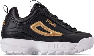 Fila Boys' Big Kids' Disruptor Metallic Flag Casual Shoes
