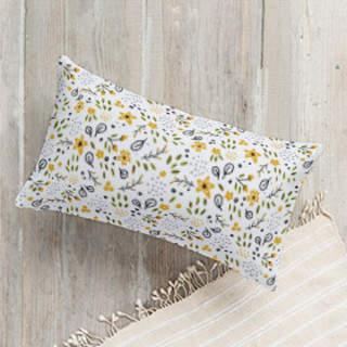 Flower Power Lumbar Pillow