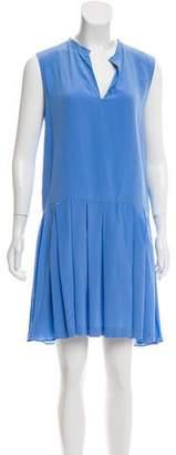 Cacharel Pleated Silk Dress