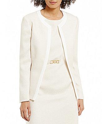 Preston & York Rae Tweed Suiting Long Sleeve Jacket $109 thestylecure.com