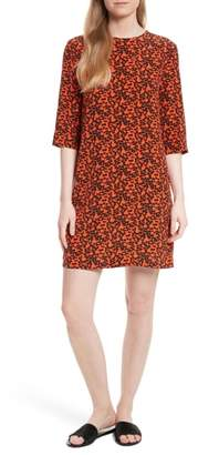 Equipment Aubrey Print Silk Shift Dress