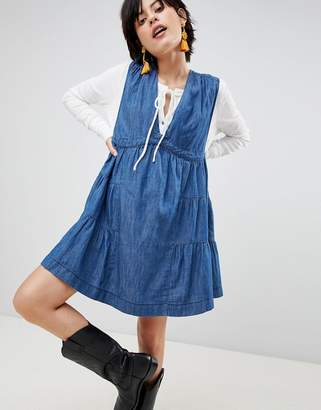 Free People Esme Denim Mini Dress