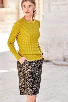 Next Womens Ochre Mini Cable Sweater
