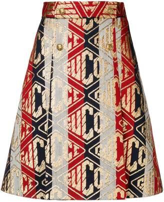 Gucci Game print skirt