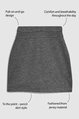 Next Girls Grey Jersey Pencil Skirt (3-16yrs) - Grey