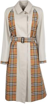 Burberry England Checked Panel Trench Coat