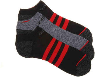 adidas Superlite Stripe No Show Socks - 3 Pack - Men's